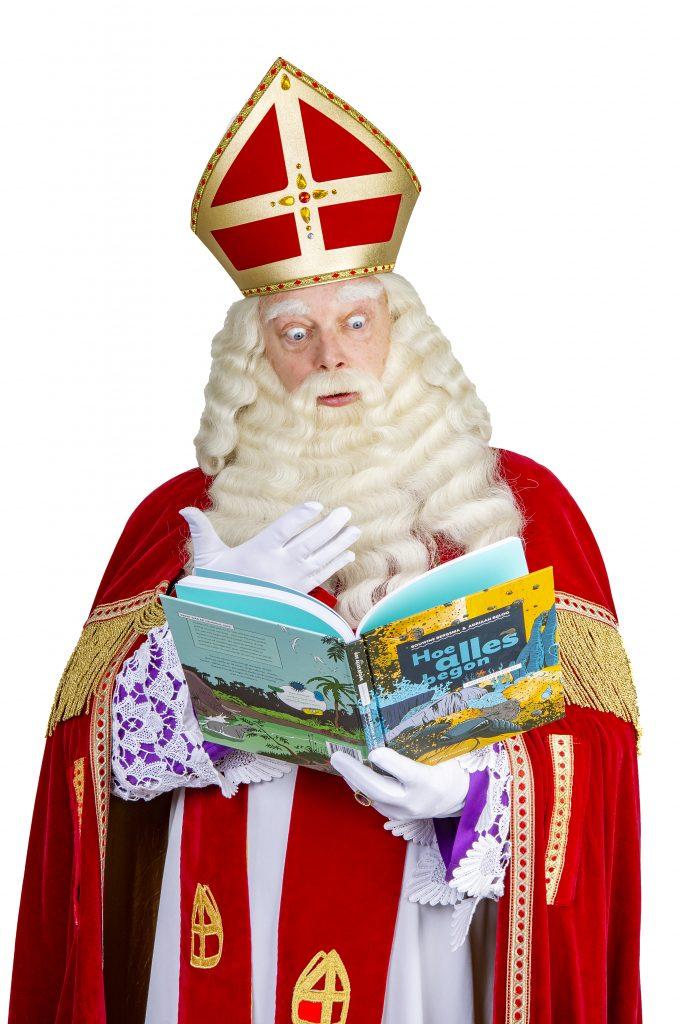 Sint leest boek