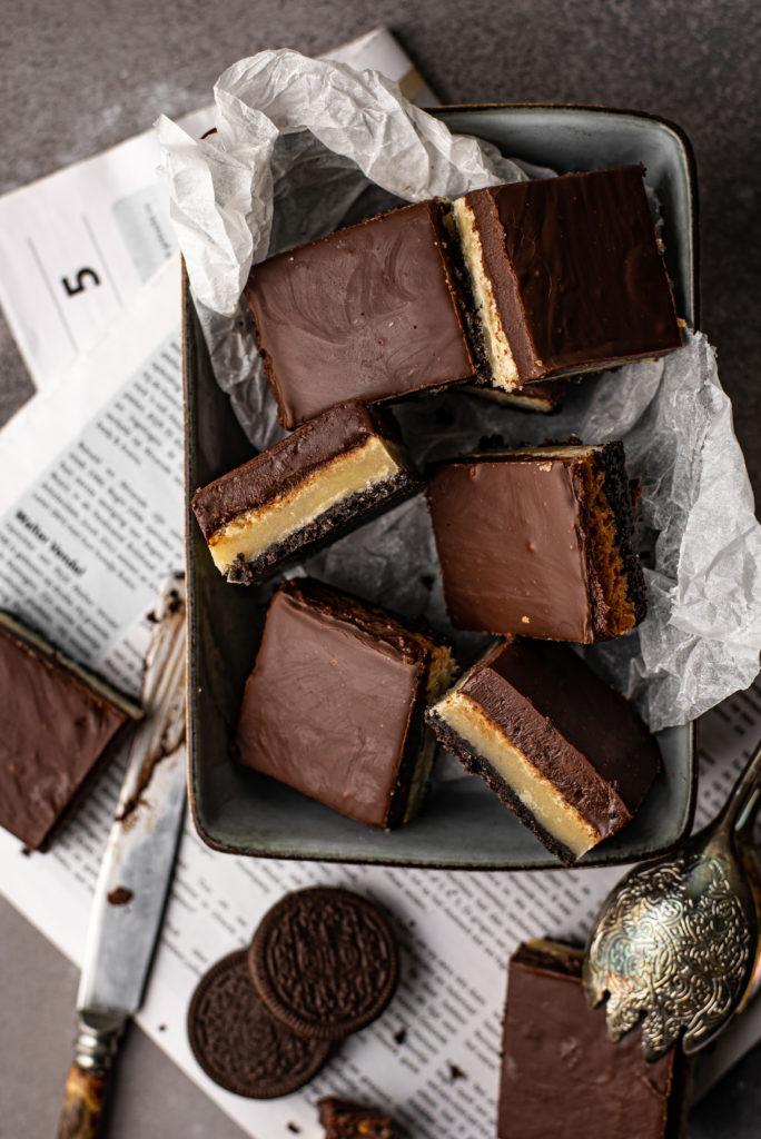 Oreo & chocoladefudge boterkoekrepen